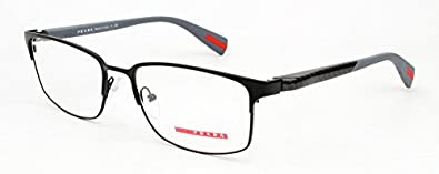 Amazon.com: Prada Sport PS50FV Eyeglasses-7AX/1O1 Black ...