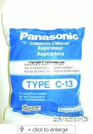 Panasonic Type C-13 Bags #AMC-S5EP- Genuine - 5 Pack (Panasonic Vacuum Bags compare prices)