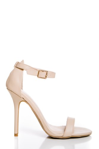 Ankle Strap Heels in Natural