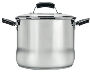 Rangekleen Home Kitchen Gadgets Cooking Utensils Basic Stock Pot 8 Qt. W/ Lid