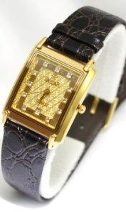 Swistar Watches Swistar Men's Strap Sapphire Crystal 23 Gold Finish Men's Watch