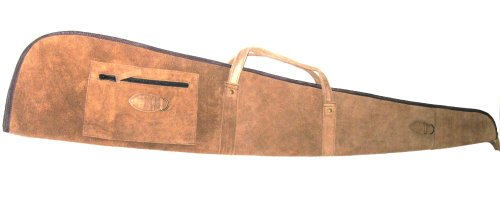 Wildwood Brown Suede Leather Soft Rifle Case