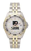 Philadelphia Flyers Mens All Star Sterling Silver Bracelet Watch