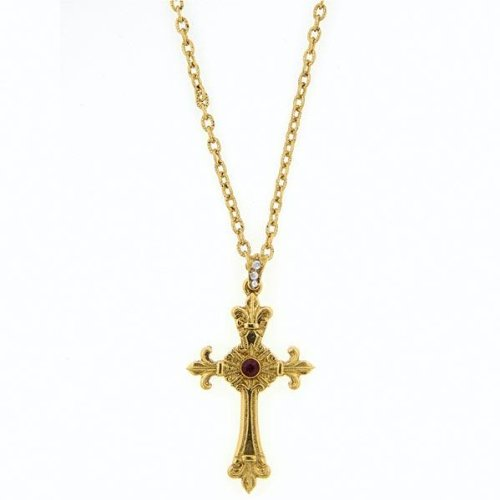 1928 Blessed Flower of the Cross Fleur De Lis Necklace