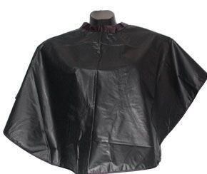 HAIR CUTTING GOWN SALON BARBERS CAPE - BLACK