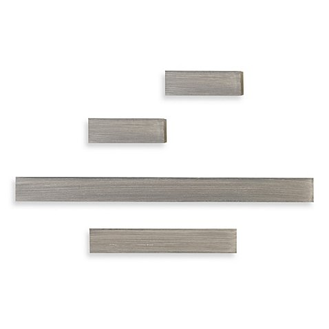 Floating Shelves in Grey (Set of 4), Melannco®