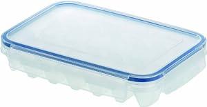 EMSA 505320 CLIP & CLOSE Classic Eiswürfelbox für 21 Eiswürfel (gefriergeeignet, spülmaschinenfest, mikrowellengeeignet, 100 % dicht)