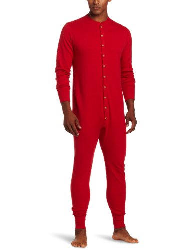 Duofold Men's Mid Weight Double Layer Thermal Union Suit, Red, Large (Insulation Underwear compare prices)