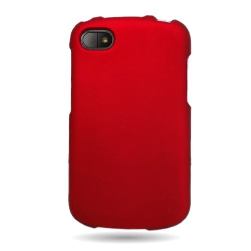 Coveron(Tm) Matte Snap-On Red Rubberized Hard Case Cover For Blackberry Q10 Att / Verizon / Sprint With Pry-Triangle Case Removal Tool [Wcm521]