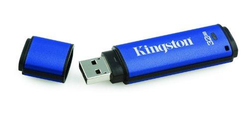 Kingston DataTraveler Vault - Privacy Edition - Lecteur flash USB - 32 Go - Hi-Speed USB - bleu