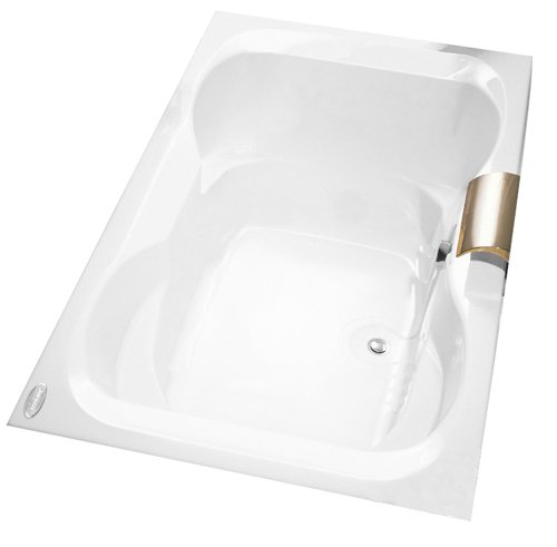 Jacuzzi H521959WH Mito 5 Acrylic 60-Inch by 42-Inch by 21-Inch Soaking Bath, White Finish