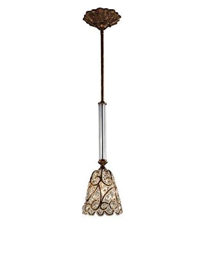 Artistic Lighting Senecal 1-Light Pendant, Spanish Bronze