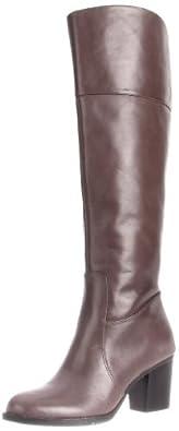 Nine West Women's Laststraw Boot,Grey Leather,6.5 M US