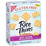 Nabisco, Rice Thins, White Cheddar, Brown Rice Thin Rice Snacks, Gluten Free, 3.5oz Box (Pack of 4)