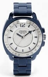 Coach Navy Boyfriend Plastic Bracelet Watch