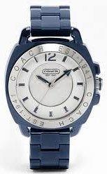 Coach Navy Boyfriend Plastic Bracelet Watch