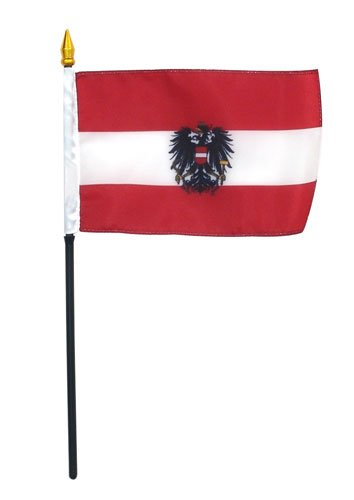 Austria Flag WITH SEAL 4 x 6 inch
