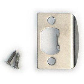 Kwikset 3437 26 Strk F/Lip Standard Strike Plate Satin Chrome