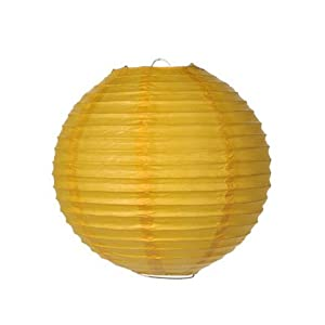 wedding reception decoration ideas, yellow paper lantern