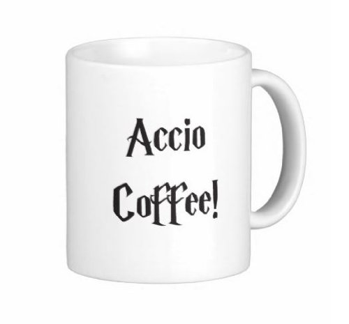 Pair Of 11 Ounce Accio Coffee Harry Potter Mugs - Dishwasher And Microwave Safe