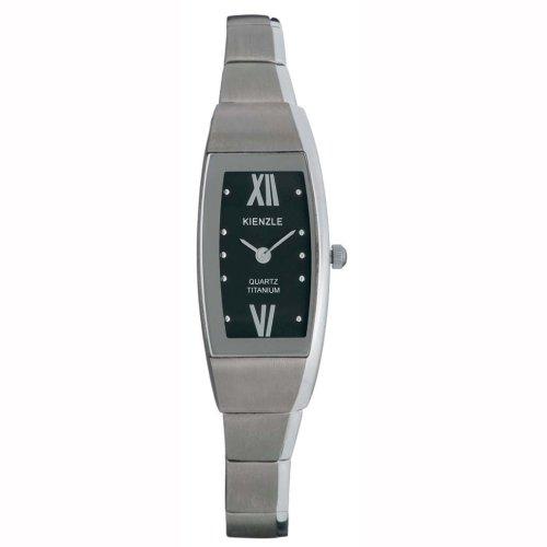Kienzle Klassik Eleganz V81091343320 - Reloj unisex de cuarzo, correa de titanio color gris