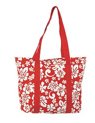 Canvas Tote Bag / Red / Large