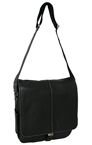 Lagacy Leather Teddy Messenger Bag (1833-02) (Black)