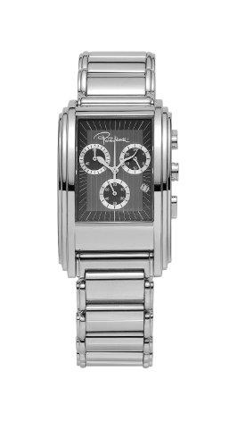 Roberto Cavalli 'Eson' 7253955025 - Reloj de caballero de cuarzo, correa de acero inoxidable color plata