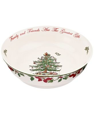 Spode Exclusive Christmas Tree 2014 Large Annual Low Serving Bowl 10