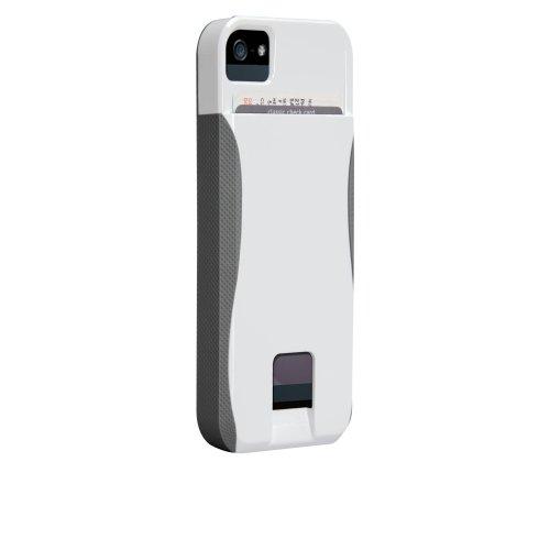 Case-Mate 日本正規品 iPhone5 POP! ID Case, ホワイト/チタニウムグレー 【カードホルダーつき ハイブリッド・ハードケース】 CM022406