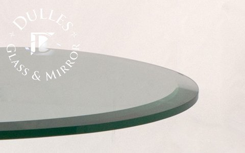 Cheap 24 Inch Round 1/2 Inch Thick Beveled Polished Annealed Glass Table Top (24RD12MMBEAN)