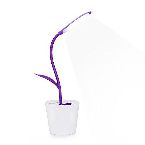 iEGrow-dimmbare-LED-Schreibtischlampe-Tischleuchte-Augenschutz-1W-3-Helligkeitsstufen-dimmbar-Berhrungsempfindlich-Flexibel-Leselampe-Purple
