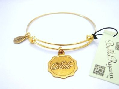 """Authentic Bella Ryann """"Sister"""" Adjustable Wire Bangle Russian Gold. (Shipped Same Day)"""