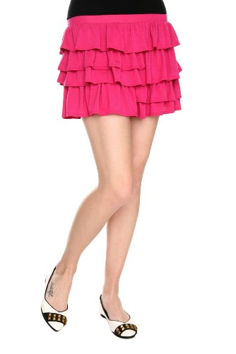 Pink Ruffle Mini Skirt