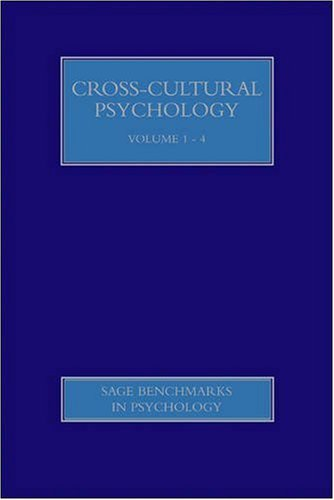 Cross-Cultural Psychology (SAGE Benchmarks in Psychology)