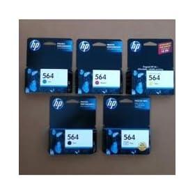 Genuine HP 564 Regular Capacity 5-Color Combo Pack
