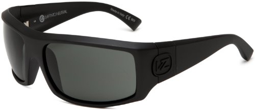 VonZipper Clutch Rectangular Sunglasses,S.I.N. & Black Satin,One Size