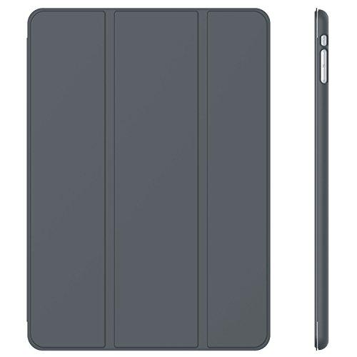 JETech® Gold Slim-Fit Folio Smart Case Cover per Apple iPad Mini e New iPad Mini con Retina Display (Seconda Generazione) con Auto Funzione Sonno/Veglia - Grigio Scuro