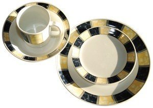 Classic 16 Piece Melamine Dinner Set for Caravans & Boats. Unbreakable!! by Royal