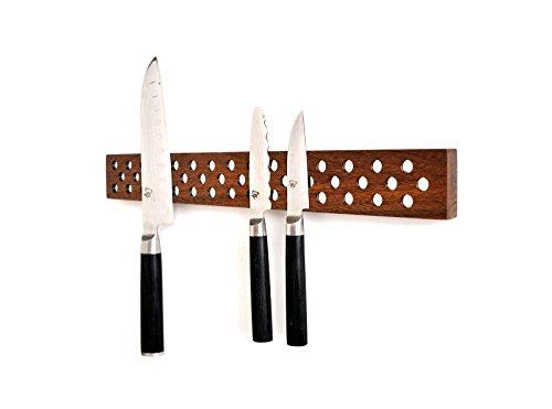Magnetic Wooden Knife Bar Holder Strip, Cherry or Walnut, 12, 16, 20, or 24 Inch (24 Inch, Walnut)