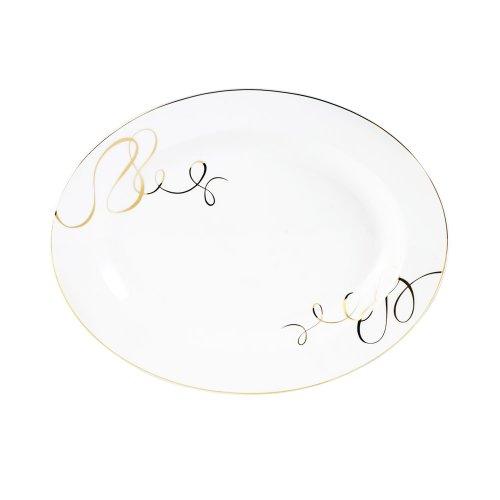 "Mikasa 5092916 Love Story Gold 14"" Oval Platter 5092916"