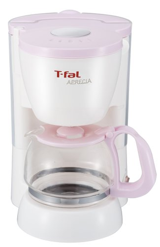 T-fal コーヒーメーカー 「アプレシア」 ペーパーレスフィルター シュガーピンク CM111171