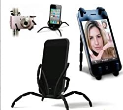 Shopaholic Black Spider Podium Stand Car Holder For Samsung Galaxy Note 2 S4 S3 Grand Duos