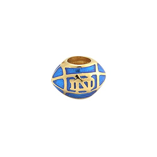 Irish Bead Notre Dame Football Silver & Enamel