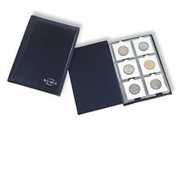 Leuchtturm Album de poche avec 10 Feuilles Numismatiques pour chacune 6 cadres cartonnés, bleu