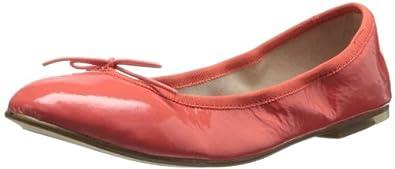 Bloch London Womens Patent Ballet Flat,Flame Fluorescent,37 EU/7 M US