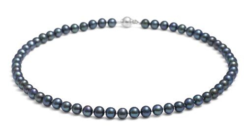 Jersey Pearl Sterling Silver Cultured Freshwater Pearl Necklace of 46cm