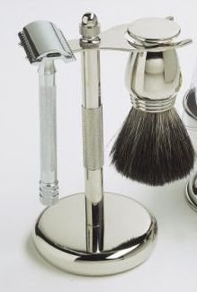 Merkur 3 Pc. Shaving Set with Long Handle Safety Razor- #HDL1- Made in Germany
