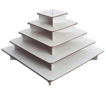 Cupcaketree Original Large Square Cupcake Stands for Weddings - 5-Tier - Holds up to 300 Cupcakes!
