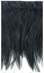 """Expo Feather Fringe 4"""" Wide 10 Yards-Black"""